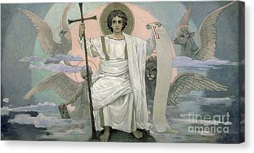 The Son Of God   The Word Of God Canvas Print by Victor Mikhailovich Vasnetsov