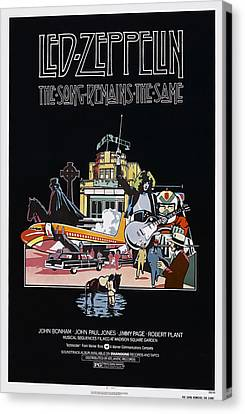 The Song Remains The Same, Us Poster Canvas Print