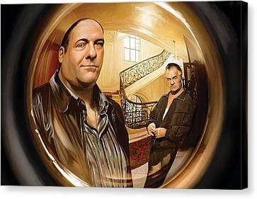 Sopranos Canvas Print - The Sopranos  Artwork 1 by Sheraz A