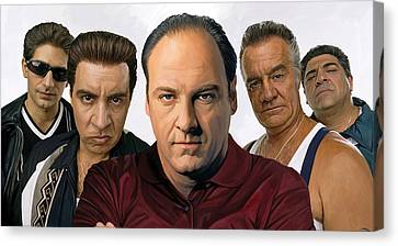 Movie Art Canvas Print - The Sopranos  Artwork 2 by Sheraz A