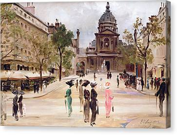 The Sorbonne Canvas Print by Leon-Marie Coutil
