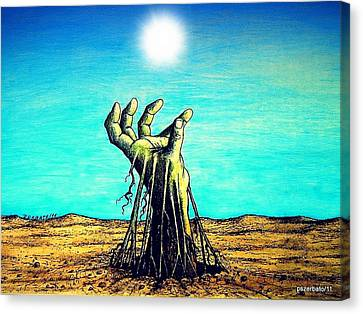 The Soul Is For The Truth Like The Root Is For The Land Canvas Print by Paulo Zerbato