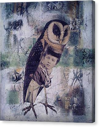 The Soul Of An Owl  Canvas Print by Susan McCarrell