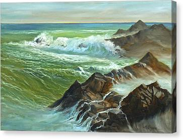 The Sound Of Surf Canvas Print
