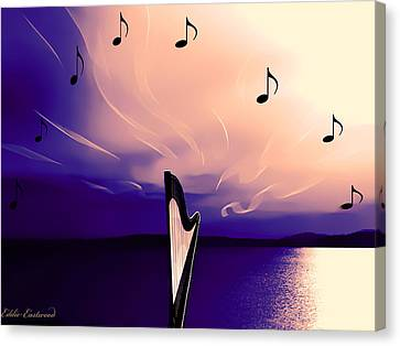 The Sounds Of Sunset Canvas Print by Eddie Eastwood