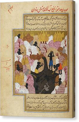 The Source Of The Ganges Canvas Print by British Library