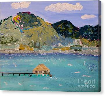 Canvas Print featuring the painting The South Seas by Phyllis Kaltenbach