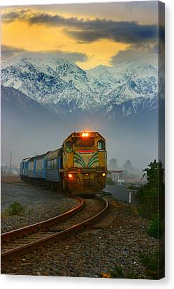 The Southerner Train New Zealand Canvas Print by Amanda Stadther