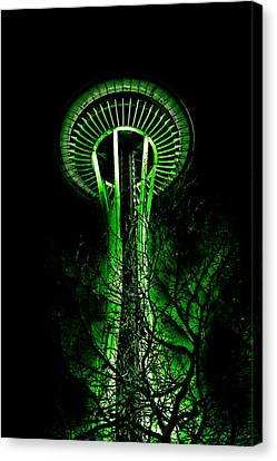 Monorail Canvas Print - The Space Needle In The Emerald City II by David Patterson