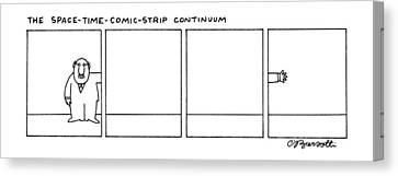 The Space-time-comic-strip Continuum Canvas Print by Charles Barsotti