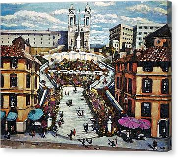 The Spanish Steps Canvas Print by Rita Brown