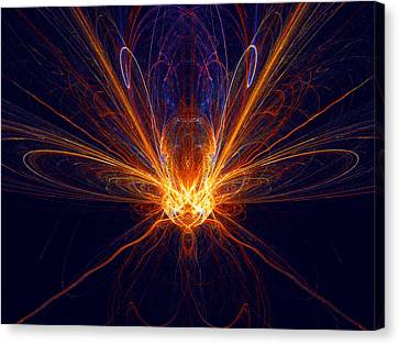 The Spectacular Digital Firefly Canvas Print by R Thomas Brass