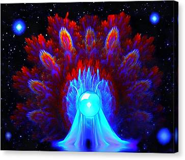 The Spectral Crown Canvas Print by Mario Carini