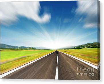 The Speed Canvas Print by Boon Mee