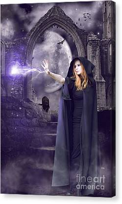 Wiccan Canvas Print - The Spell Is Cast by Linda Lees