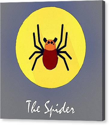 The Spider Cute Portrait Canvas Print
