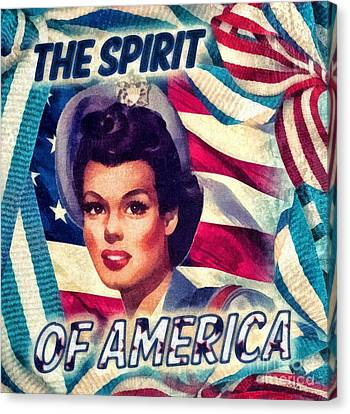Smiling Canvas Print - The Spirit Of America by Mo T