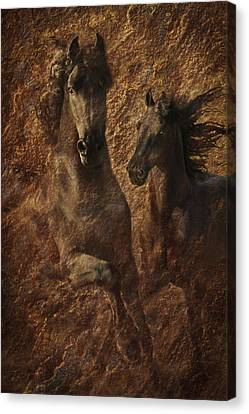 The Spirit Of Black Sterling Canvas Print by Melinda Hughes-Berland