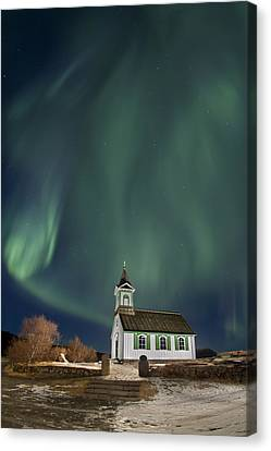 The Spirit Of Iceland Canvas Print by Evelina Kremsdorf
