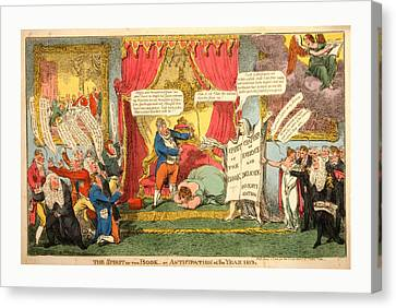 The Spirit Of The Book -or Anticipation Of The Year 1813 Canvas Print by Litz Collection