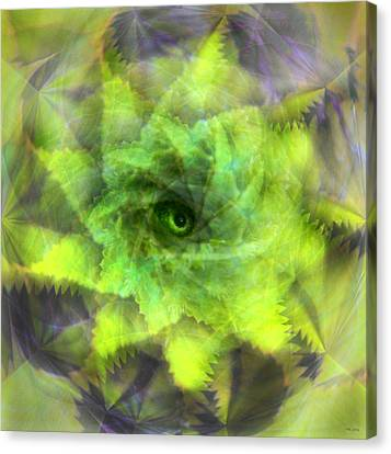 Canvas Print featuring the digital art The Spirit Of The Jungle by Martina  Rathgens