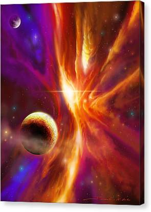 The Spirit Realm Of The Saphire Nebula Canvas Print by James Christopher Hill