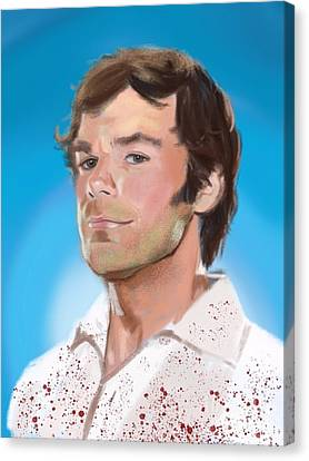 Dexter Morgan Canvas Print - The Spatter Analyst. by Jeremy Nash