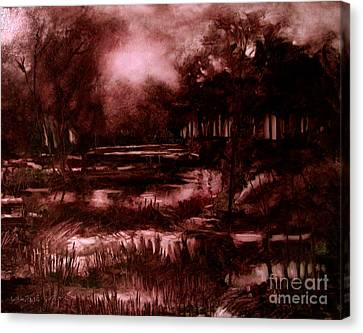 The Spring Eel Flooding Or Red And Green Don't Make Brown Canvas Print by Charlie Spear