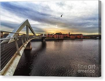 The Squiggly Bridge Canvas Print by John Farnan
