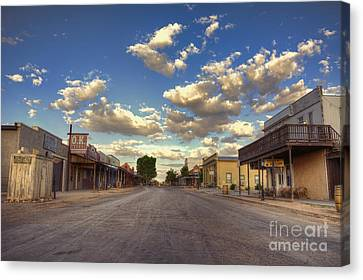 The Sreets Of Tombstone Canvas Print by Eddie Yerkish