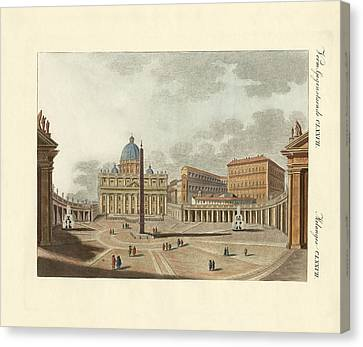 The St. Peter's Cathedral In Rome Canvas Print by Splendid Art Prints