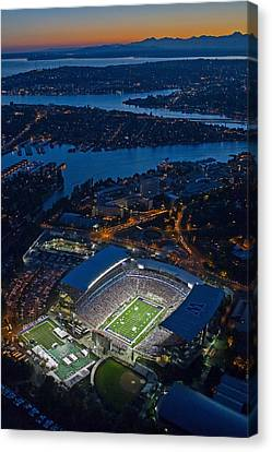 Husky Stadium At Dusk Canvas Print