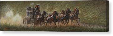 The Stage Coach Canvas Print by Gregory Perillo