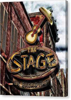 The Stage In Nashville Canvas Print by Mountain Dreams