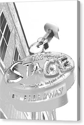 The Stage On Broadway Sketch Canvas Print