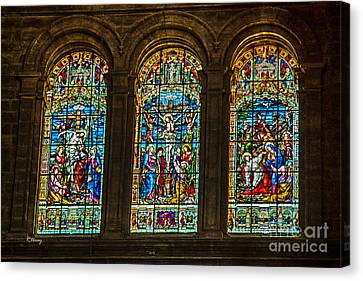 The Stained Glass Windows Of Malaga Cathedral Canvas Print by Rene Triay Photography