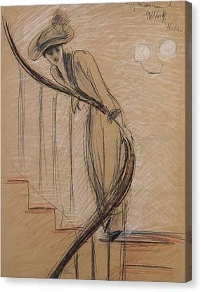 The Staircase Canvas Print by Paul Cesar Helleu
