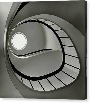 Skylight Canvas Print - The Staircase In Mr. And Mrs. Albert by Fred Lyon