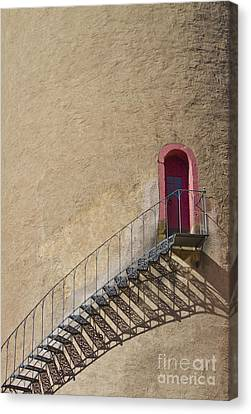 The Staircase To The Red Door Canvas Print by Heiko Koehrer-Wagner