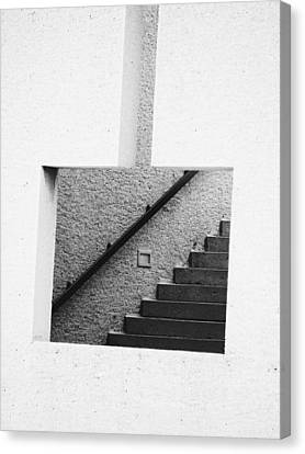 The Stairs In The Square Canvas Print