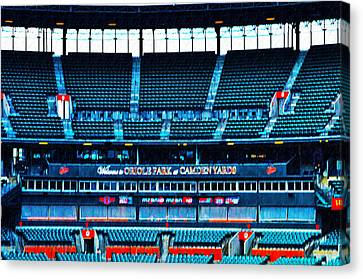 The Stands At Oriole Park Canvas Print by Bill Cannon