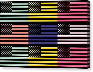 The Star Flag Canvas Print by Tommytechno Sweden