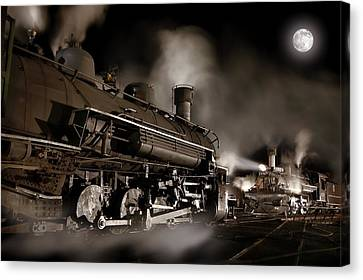 The Staredown Version 2 Canvas Print by Ken Smith