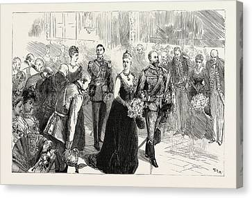 The State Concert At The Palace, The Royal Procession Canvas Print