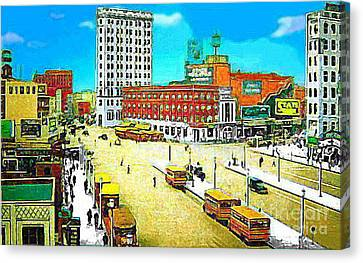 The State Theatre On Journal Sq. In Jersey City N J In 1930. Canvas Print