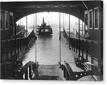 Staten Island Ferry Canvas Print - The Staten Island Ferry by Underwood Archives