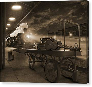 The Horse Canvas Print - The Station 2 by Mike McGlothlen