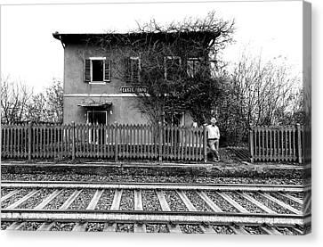 Abandoned House Canvas Print - The Station Of Castelferro by Carlo Ferrara