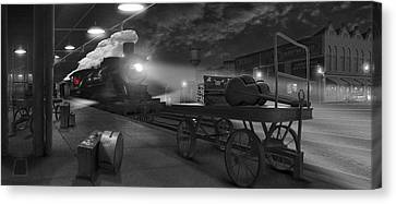 The Station - Panoramic Canvas Print