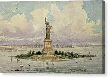 The Statue Of Liberty  Canvas Print by Frederic Auguste Bartholdi